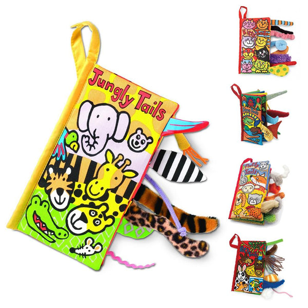 Animal Tails Cloth Activity Book