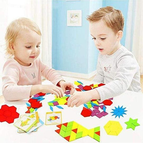 Educational Wooden Pattern Blocks