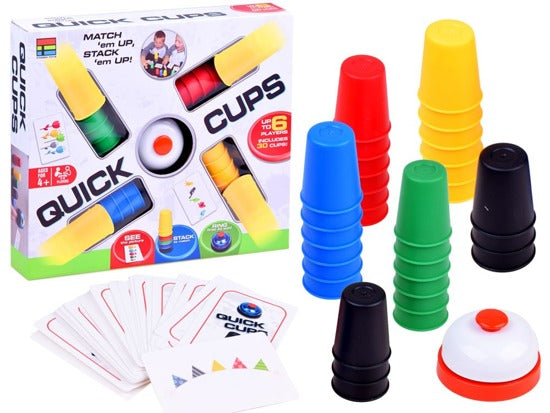 Quick Cups - Classic Stacking Cup Game for Kids