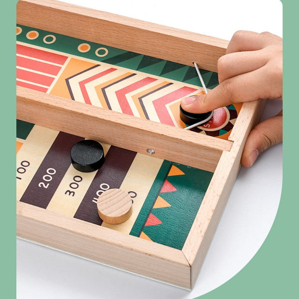 Wooden Pin-Chess Game