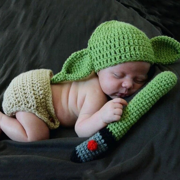 Handmade YODA Baby Crochet Toddler Outfit