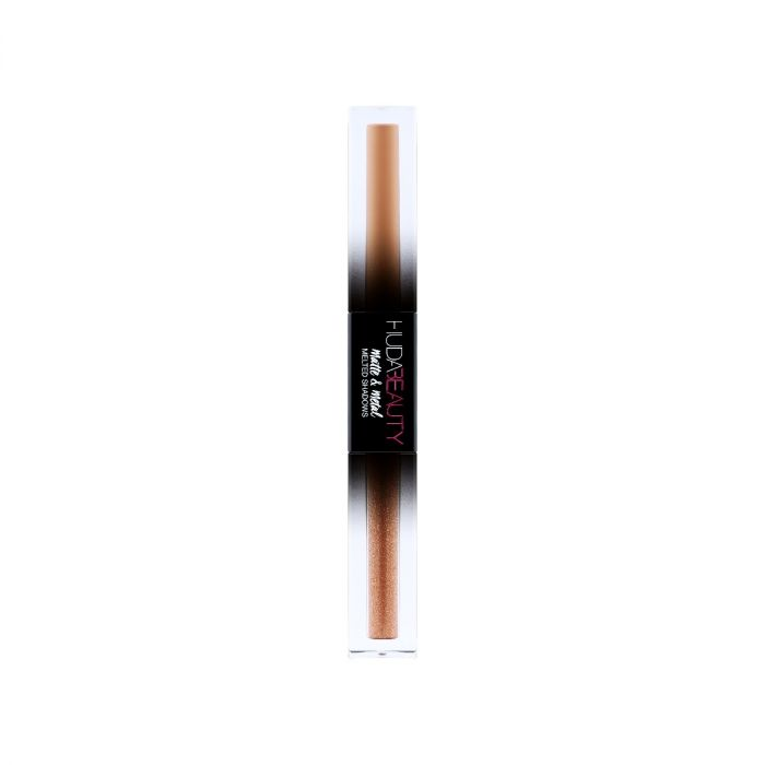 Huda Beauty Matte & Metal Melted Shadow - Double-Pump Latte & Drop Top | HODIVA LUX