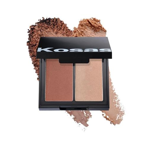 Kosas COLOR & LIGHT PALETTE POWDER BLUSH AND HIGHLIGHTER .32OZ | HODIVA LUX