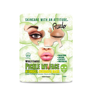 RUDE® Pickle My Face Hydrogel Cucumber Mask