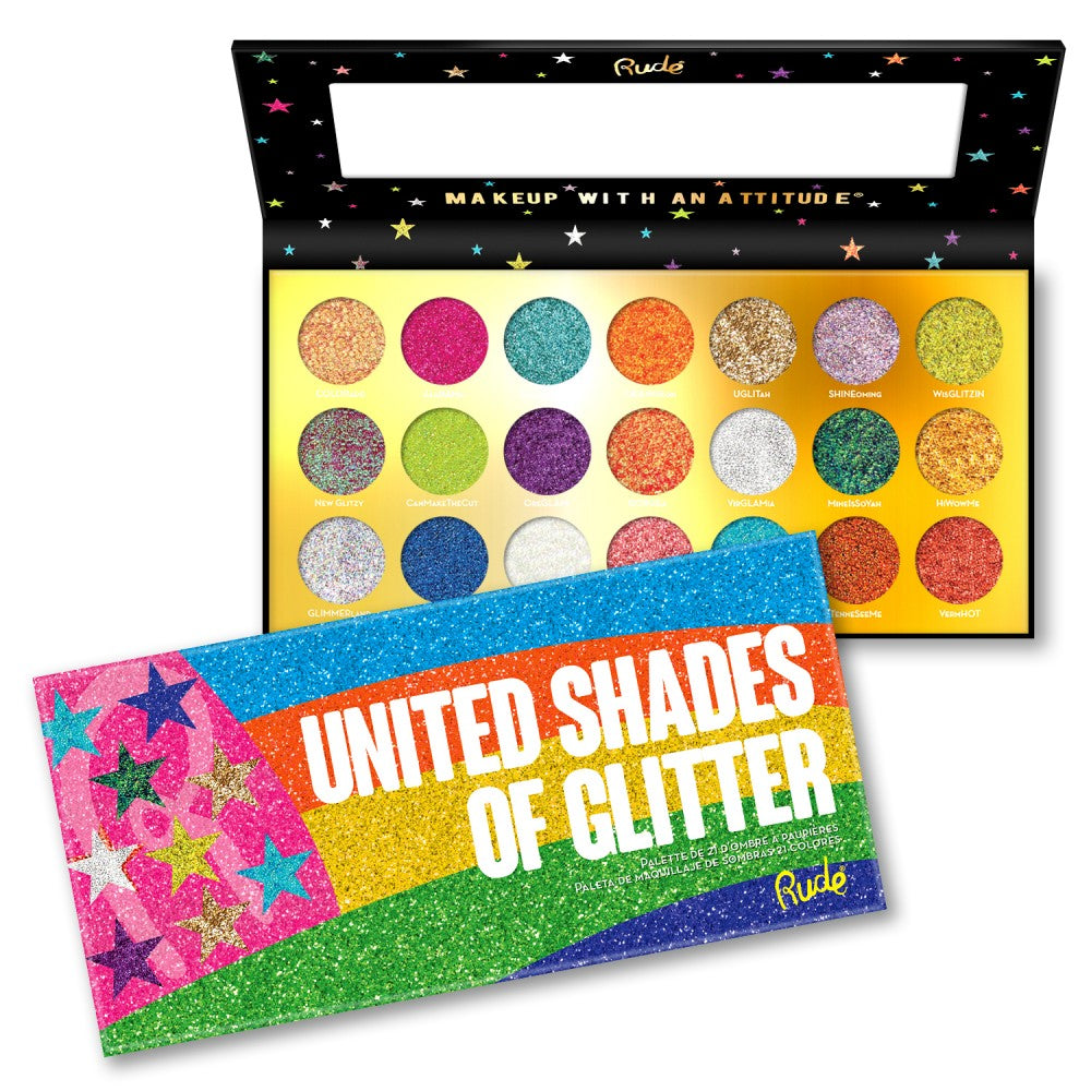 RUDE® United Shades of Glitter - 21 Pressed Glitter Palette