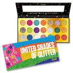 RUDE® United Shades of Glitter - 21 Pressed Glitter Palette | HODIVA SHOP