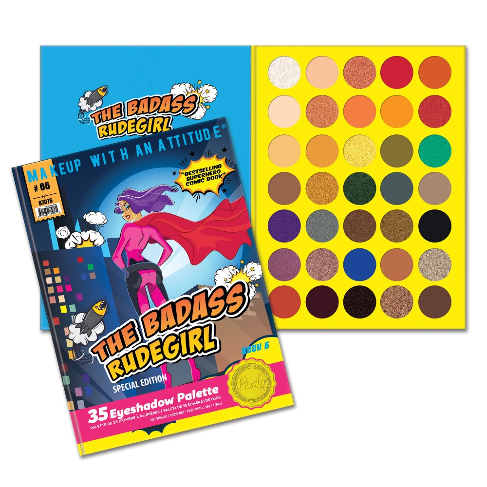RUDE® The Badass RudeGirl 35 Eyeshadow Palette - Book 6 | HODIVA SHOP