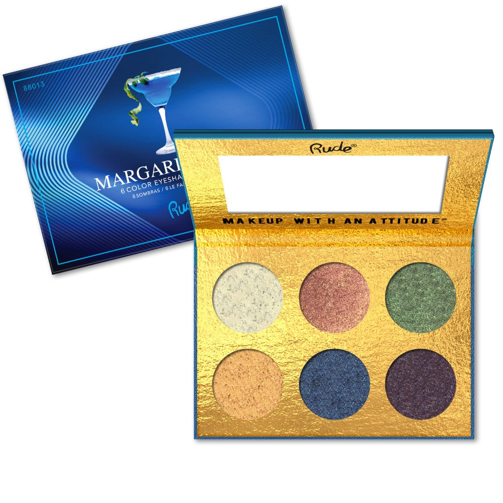 RUDE Cocktail Party 6 Color Eyeshadow Palette - Margarita Azul