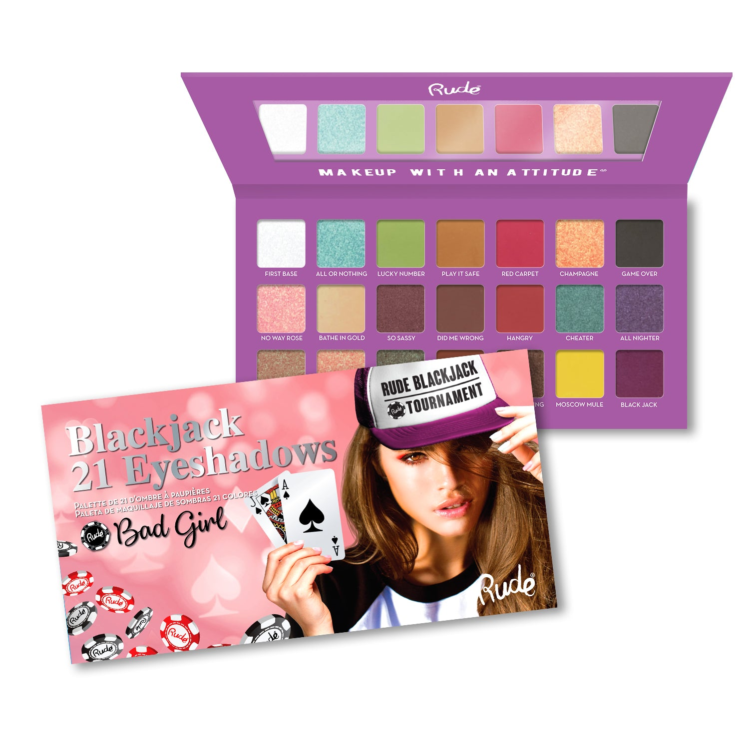RUDE® Blackjack 21 Eyeshadows | HODIVA SHOP