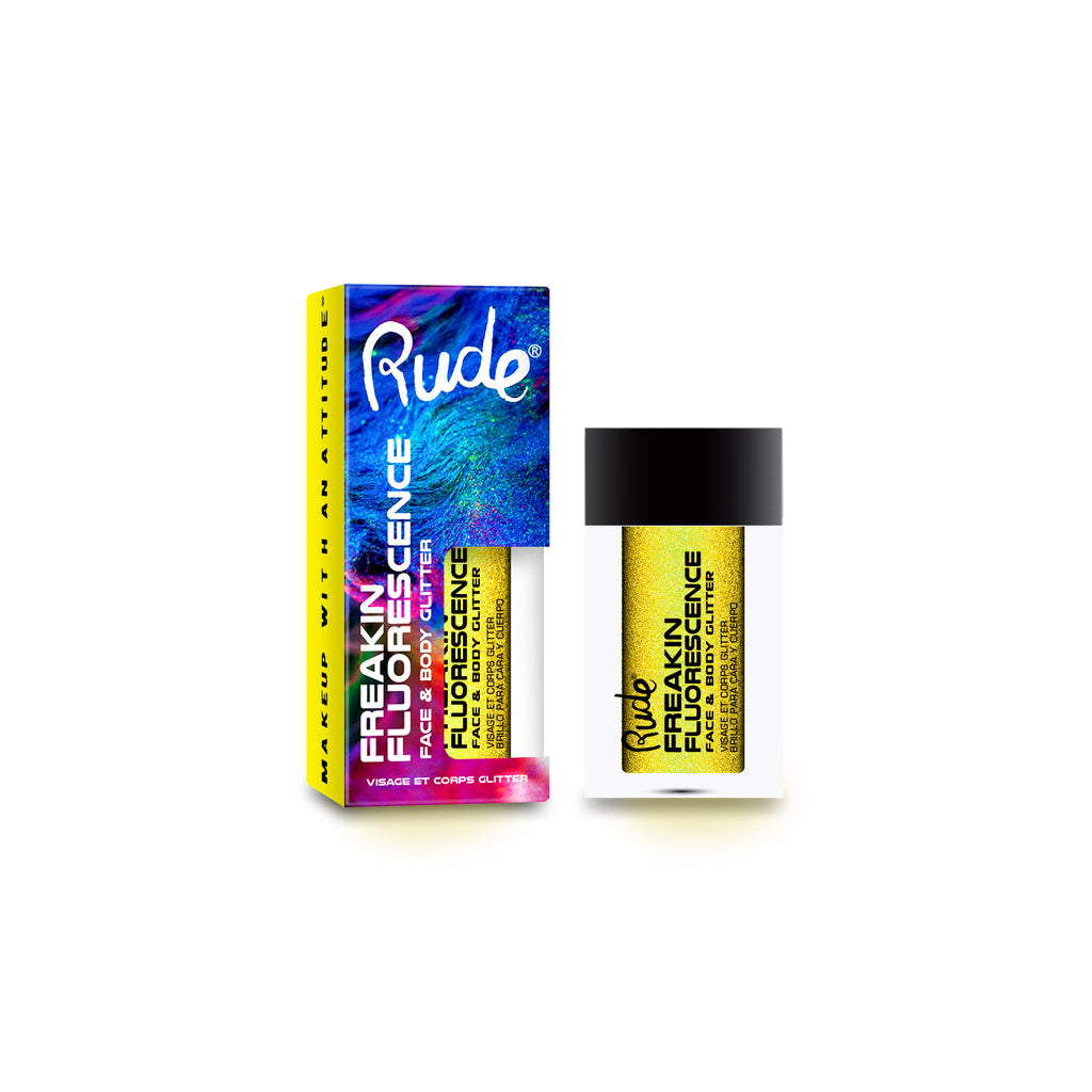 RUDE® Freakin Fluorescence Face & Body Glitter | HODIVA SHOP