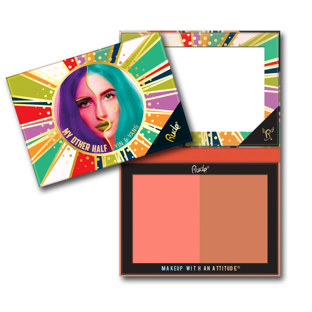 RUDE® My Other Half Duo Shade Face Palette