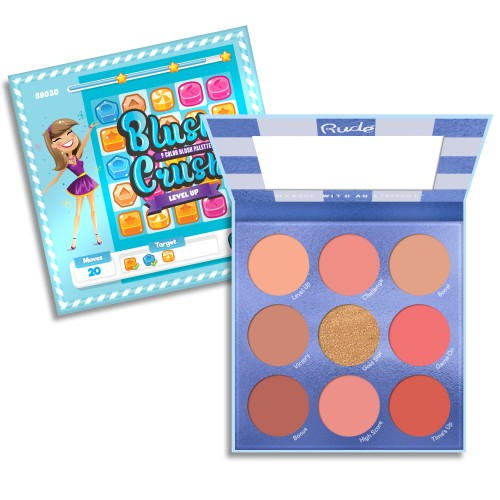 RUDE Blush Crush 9 Color Blush Palette - Level Up