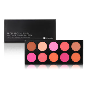 BH Cosmetics 10 Color Professional Blush Palette - 10 Shades | HODIVA SHOP