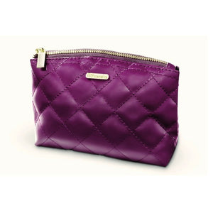 BH Cosmetics Grape Quilted Makeup Bag - Purple