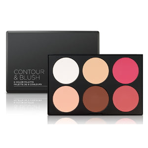 BH Cosmetics Contour & Blush Palette - 6 Color Palette