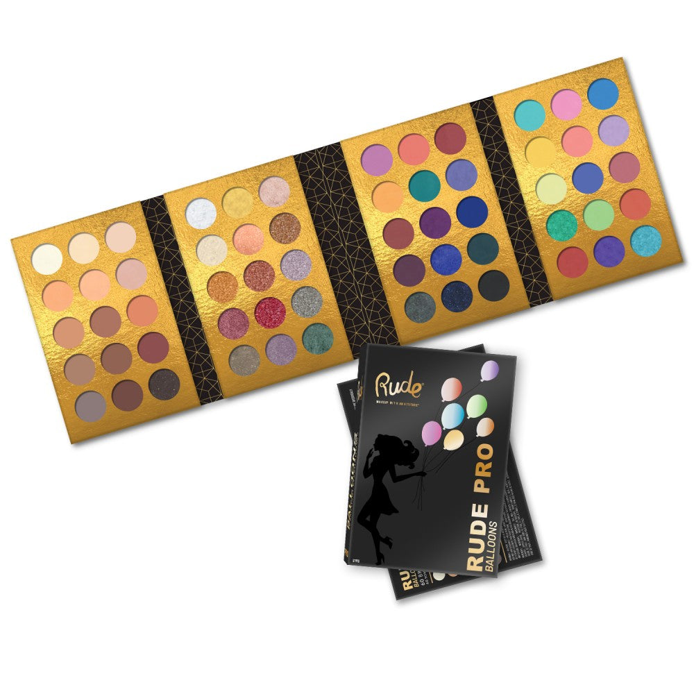 RUDE® PRO Balloons - 60 Color Eyeshadow Palette