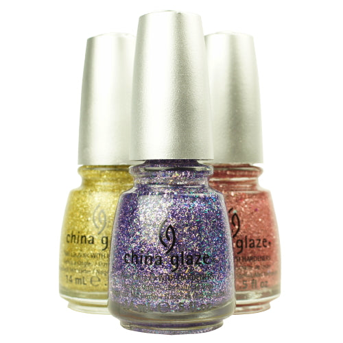 CHINA GLAZE Glitter Nail Lacquer with Nail Hardner
