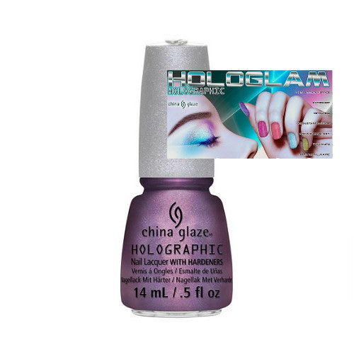 CHINA GLAZE 12 Holographic Nail Lacquers with Hardeners