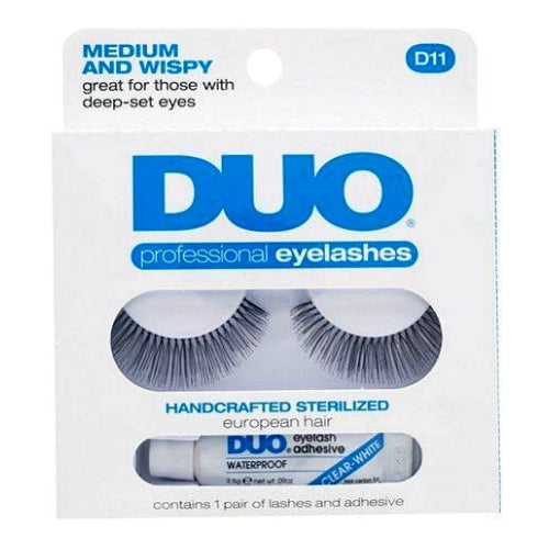 DUO Professional Eyelashes W/ Striplash Clear Adhesive - Medium And Wispy | HODIVA SHOP