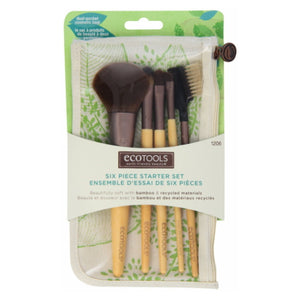EcoTools Six Piece Starter Brush Set - Bamboo / Recycled Materials | HODIVA SHOP