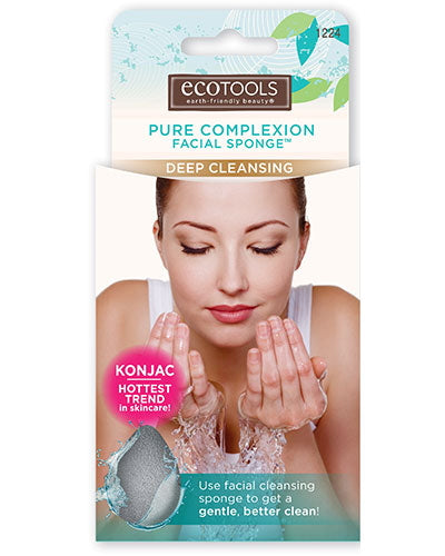 EcoTools Pure Complexion Facial Sponge - Deep Cleansing - Charcoal | HODIVA SHOP