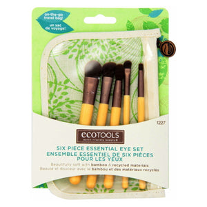 EcoTools Six Piece Essential Eye Brush Set - Bamboo / Recycled Materials | HODIVA SHOP