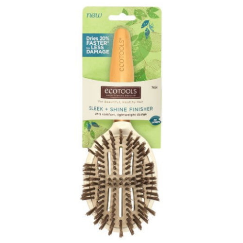 EcoTools Sleep + Shine Finisher Hair Brush - Ultra Comfort, Lightweight Design