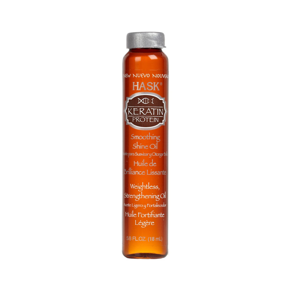 HASK Keratin Protein Smoothing SHINE Oil, 0.62 oz | HODIVA SHOP