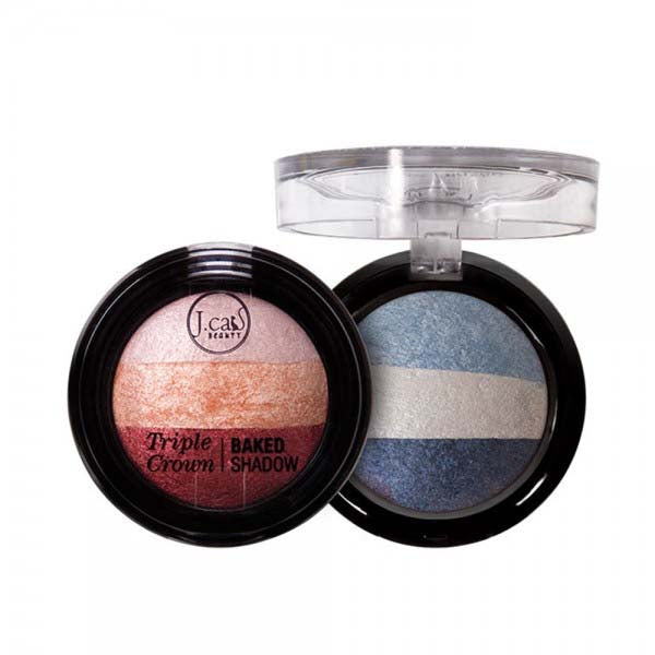 J. CAT BEAUTY Triple Crown Baked Shadow | HODIVA SHOP