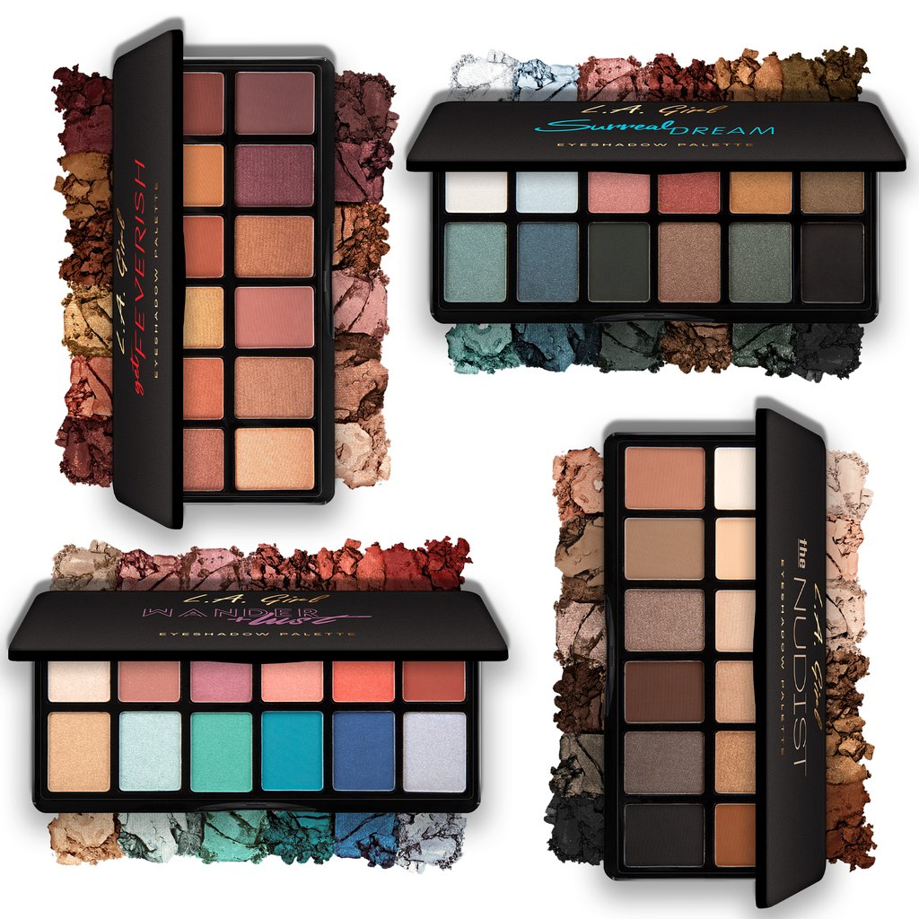L.A. GIRL Fanatic Eyeshadow Palette | פלטת 12 צלליות | HODIVA SHOP