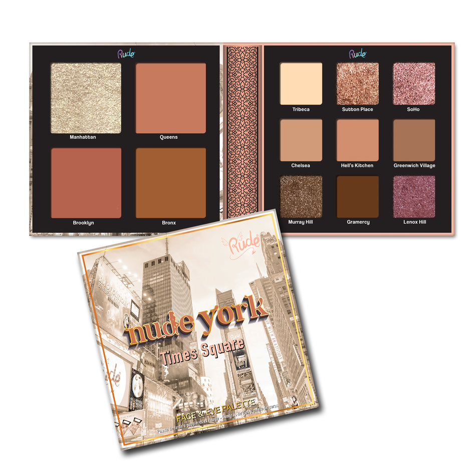 RUDE® Nude York Face & Eye Palette | HODIVA SHOP