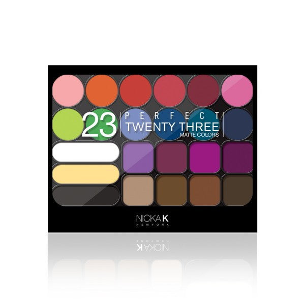 NICKA K Perfect Twenty-Three Colors (Matte) Eyeshadow Palette 01 (AP9A) | HODIVA SHOP