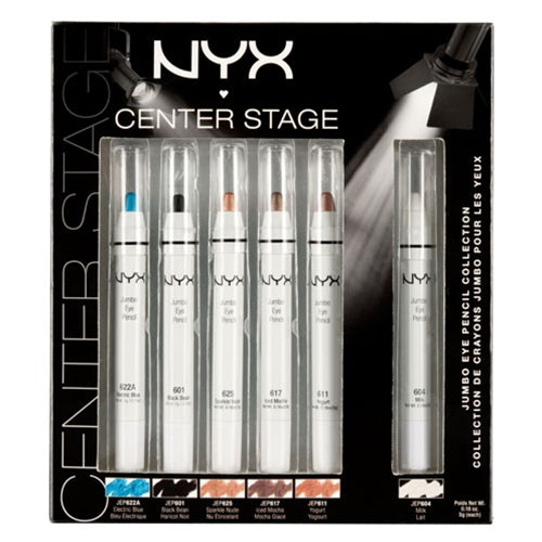 NYX Jumbo Eye Pencil Collection - Center Stage - 6 Pencils | HODIVA SHOP