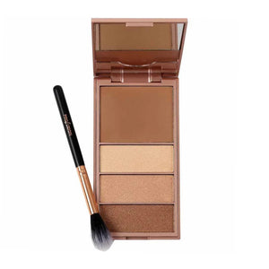 PROFUSION Glamour Bar Bronzer & Luminizer Palette And Setting Brush | HODIVA SHOP