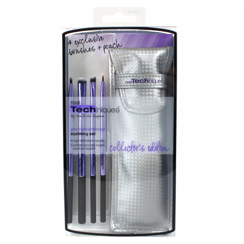 Real Techniques Limited Edition Eyelining Set - Plush Synthetic Bristles | HODIVA SHOP