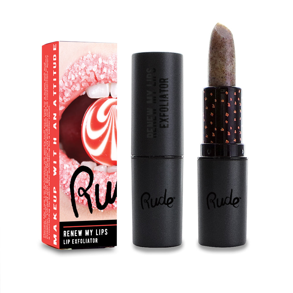 RUDE® Renew My Lips Lip Exfoliator