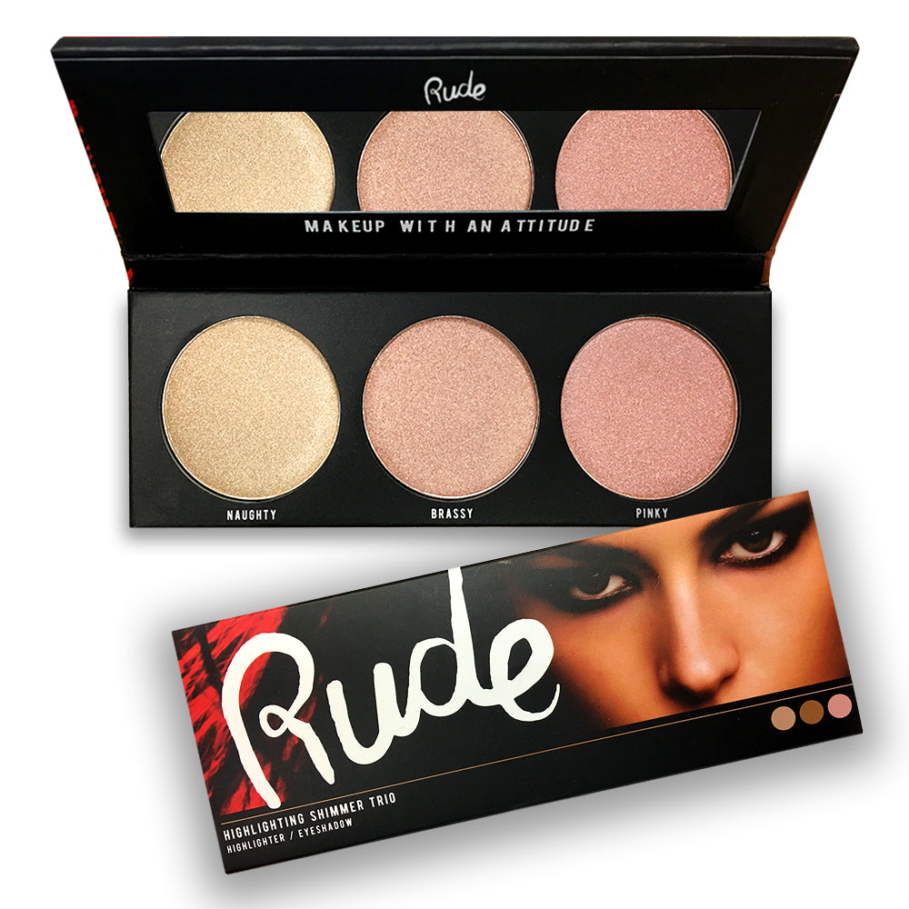 RUDE® Cosmetics Highlighting Shimmer Trio