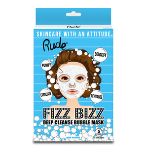 RUDE® Fizz Bizz Deep Cleanse Bubble Mask, Pack of 5 | HODIVA SHOP