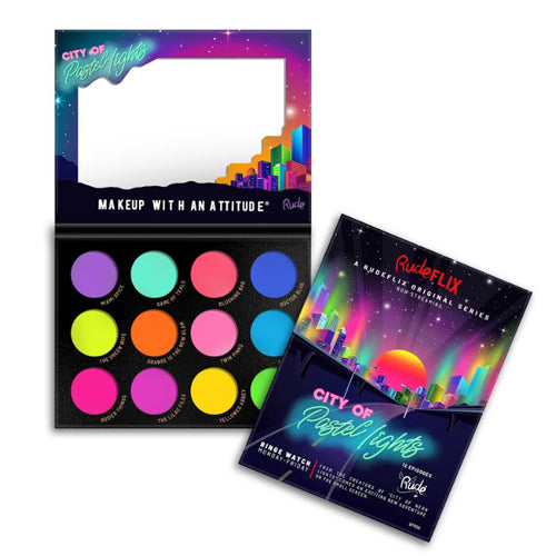 RUDE City of Pastel Lights - 12 Pastel Pigment & Eyeshadow Palette | HODIVA SHOP