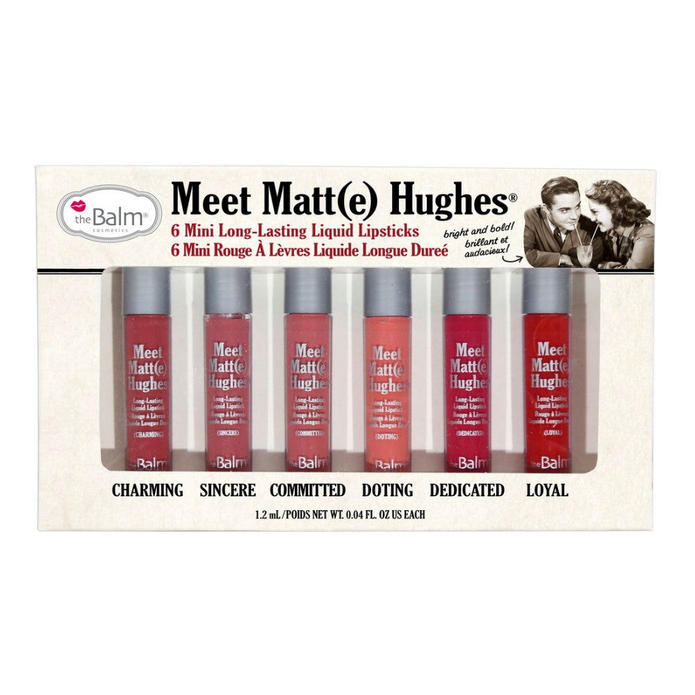 theBalm Meet Matt(e) Hughes Set of 6 Mini Long-Lasting Liquid Lipsticks | HODIVA SHOP