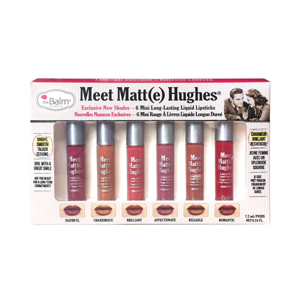 theBalm Meet Matte Hughes Set of 6 Mini Long-Lasting Liquid Lipsticks 2 | HODIVA SHOP
