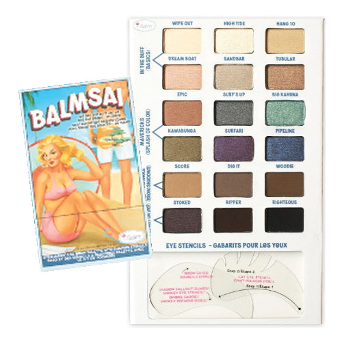 theBalm Balmsai Eyeshadow and Brow Palette with Shaping Stencils - 18 Colors | HODIVA SHOP
