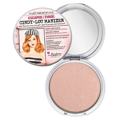 theBalm Cindy-Lou Manizer Highlighter, Shadow & Shimmer - Peachy Pink