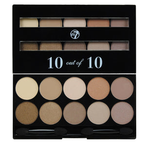 W7 Perfect 10 out of 10 Eyeshadow Palette - Browns | HODIVA SHOP