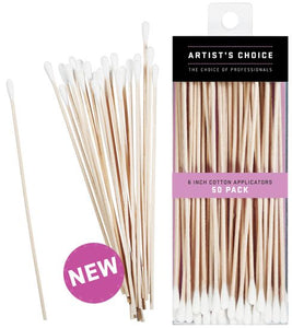 Artist Choice 6 Inch Cotton Applicators 50 pack | HODIVA LUX
