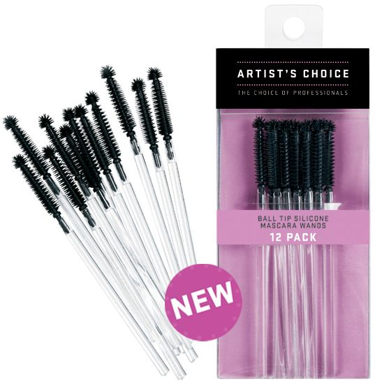 Artist Choice Ball Tip Silicone Mascara Wands 12 Pack | HODIVA LUX