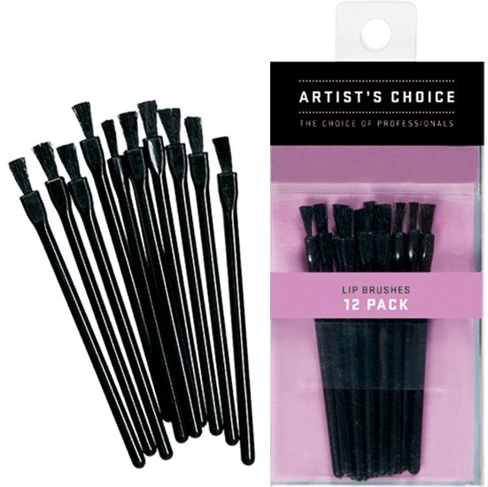 Artist Choice Disposable Lip Brushes 12 Pack | HODIVA LUX