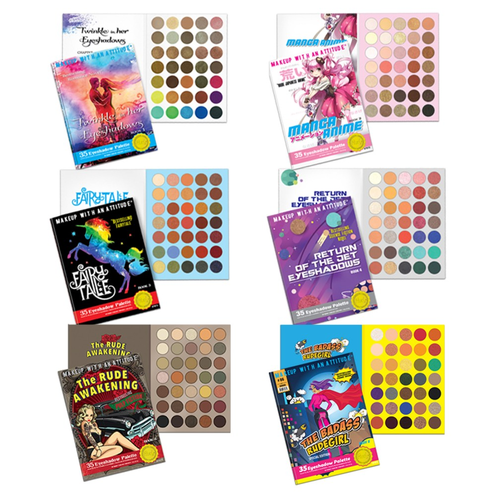 RUDE® Book Series 6 Eyeshadow Palettes Bundle