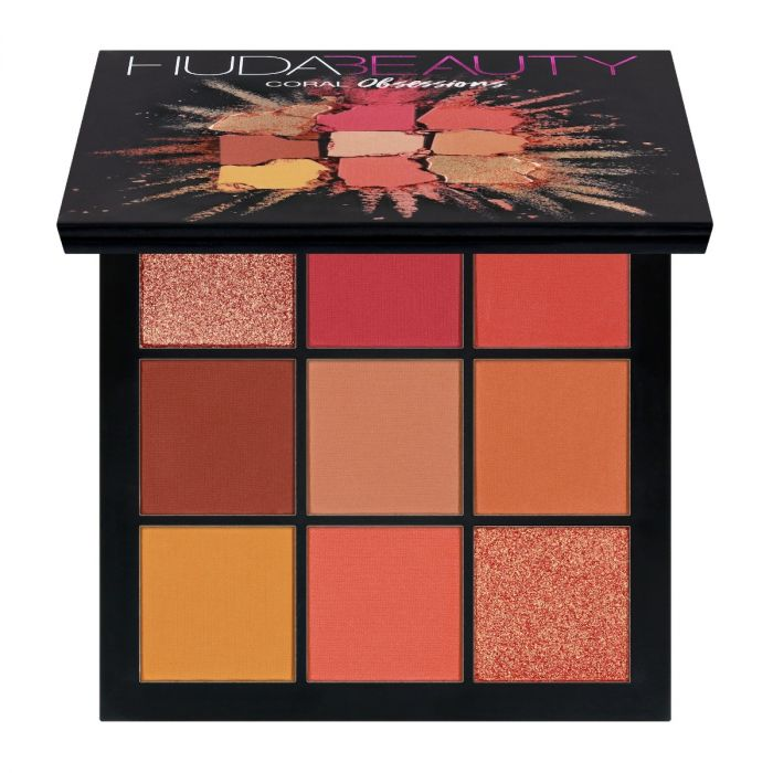 Huda Beauty Obsessions Palette Coral | HODIVA LUX
