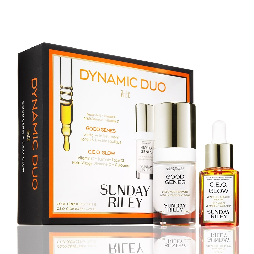 Sunday Riley Dynamic Duo Good Genes + C.E.O. Glow Kit | HODIVA LUX
